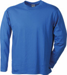 James & Nicholson – Men's Long-Sleeved Medium for embroidery and printing