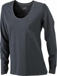 James & Nicholson – Ladies' Stretch Shirt Long-Sleeved zum besticken und bedrucken