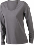 James & Nicholson – Ladies' Stretch Shirt Long-Sleeved for embroidery and printing