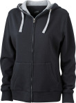 James & Nicholson – Ladies´ Lifestyle Zip-Hoody for embroidery and printing
