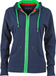 James & Nicholson – Ladies´ Urban Hooded Sweat Jacket zum besticken und bedrucken