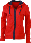 James & Nicholson – Ladies´ Urban Hooded Sweat Jacket for embroidery and printing