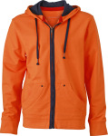James & Nicholson – Men´s Urban Hooded Sweat Jacket zum besticken und bedrucken