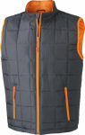 James & Nicholson – Men´s Padded Light Weight Vest zum besticken