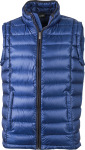 James & Nicholson – Men's Quilted Down Vest zum besticken