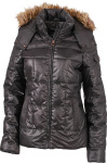 James & Nicholson – Ladies' Padded Winter Jacket with shiny look hímzéshez