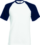 Fruit of the Loom – Shortsleeve Baseball T for embroidery and printing