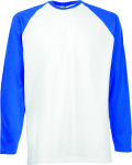 Fruit of the Loom – Long Sleeve Baseball T for embroidery and printing