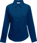 Fruit of the Loom – Lady-Fit Long Sleeve Poplin Blouse for embroidery and printing