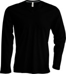 Kariban – Men ́s Long Sleeve V-Neck T-Shirt for embroidery and printing
