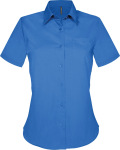 Kariban – Judith-Ladies Short Sleeve Easy Care Polycotton Poplin Shirt for embroidery and printing