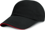 Result – Junior Heavy Brushed Cotton Cap (Sandwich-Schild) zum besticken