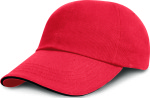 Result – Junior Heavy Brushed Cotton Cap (Sandwich-Schild) for embroidery