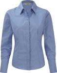 Russell – Ladies Long Sleeve PolyCotton Easy Care Fitted Poplin Shirt for embroidery and printing