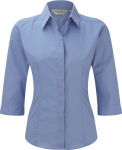 Russell – Ladies 3/4 Sleeve PolyCotton Easy Care Fitted Poplin Shirt for embroidery and printing