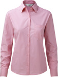 Russell – Ladies Long Sleeve Pure Cotton Easy Care Poplin Blouse for embroidery and printing