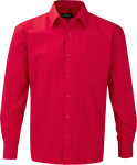 Russell – Men´s Long Sleeve Pure Cotton Easy Care Poplin Shirt for embroidery and printing