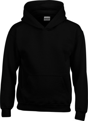 Gildan - Heavy Blend™ Youth Hooded Sweatshirt (Black)