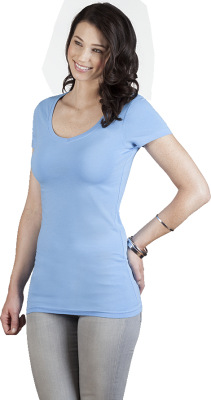 Promodoro – Women's Slim Fit V-Neck-T Long
