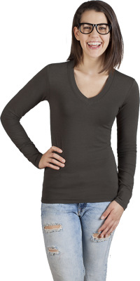 Promodoro – Women's Wellness V-Neck-T LS