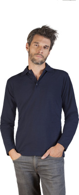 Promodoro - Men's Heavy Polo LS (navy)