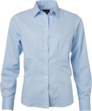 James & Nicholson – Oxford Bluse langarm