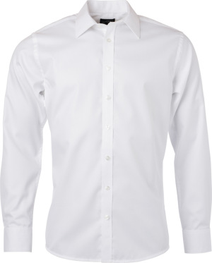 James & Nicholson – Herringbone Shirt longsleeve