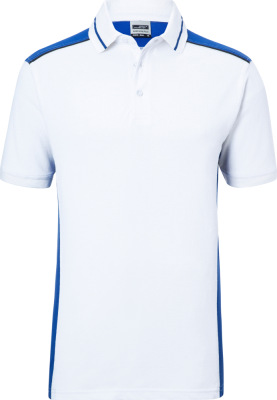 James & Nicholson - Herren Workwear Polo (white/royal)