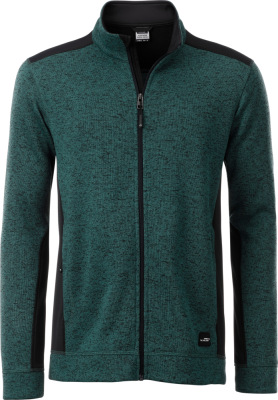 James & Nicholson – Herren Workwear Strickfleece Jacke