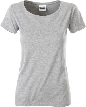 James & Nicholson - Damen Bio T-Shirt (grey heather)