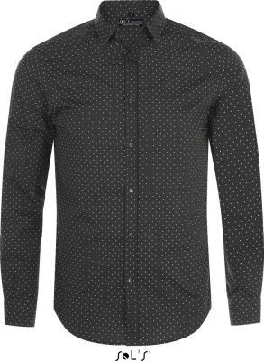 SOL'S – Popeline Shirt longsleeve with polka dots