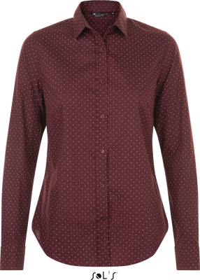 SOL'S – Becker Women Popeline Blouse longsleeve with polka dots