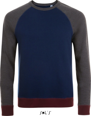 SOL'S - Heavy Raglan Sweater 3-farbig (french navy/charcoal melange)