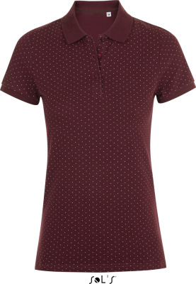 SOL'S – Ladies' Piqué Polo with polka dots