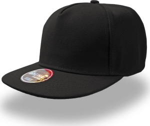 Atlantis - 5 Panel Kappe Snap Five (black)