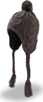 Atlantis – Knitted Hat with tassle and pigtails Inuit