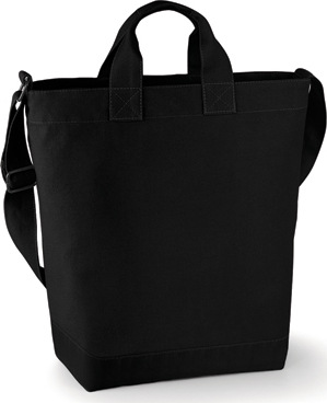 BagBase - Canvas Day Bag (Black)