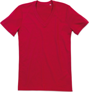 "Stedman - Organic Herren V-Neck T-Shirt ""James"" (pepper red)"