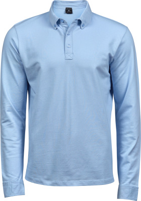 Tee Jays - Fashion Stretch Piqué Polo langarm (light blue)