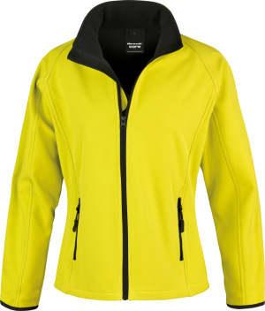 "Result - 2-Lagen Damen Softshell Jacke ""Printable"" (yellow/black)"