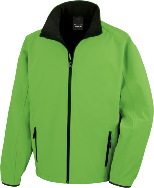 "Result - 2-Lagen Herren Softshell Jacke ""Printable"" (vivid green/black)"
