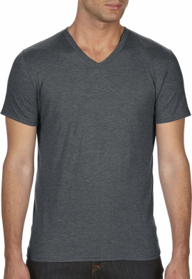 Anvil - Tri-Blend V-Neck Tee (Heather Dark Grey)