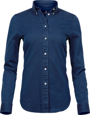 Tee Jays - Denim Twill Bluse langarm (indigo blue)