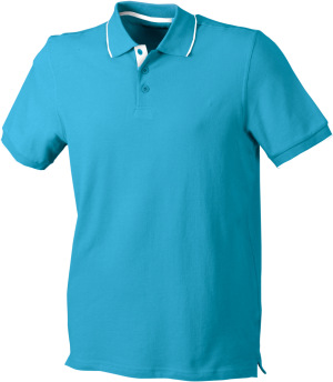 James & Nicholson - Campus Polo (turquoise/white)