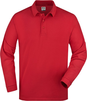 James & Nicholson - Polo-Piqué Long-Sleeved (Red)
