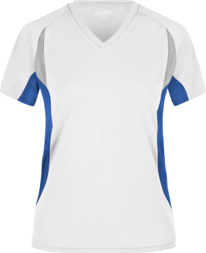 James & Nicholson - Ladies´ Running-T (White/Royal)
