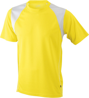 James & Nicholson - Men´s Running-T (Yellow/White)