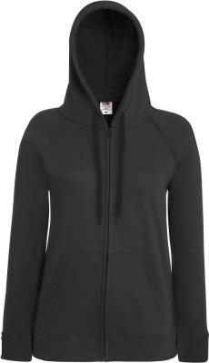 Fruit of the Loom - Lady-Fit Lightweight Hooded Sweat Jacket (Light Graphite (Solid))