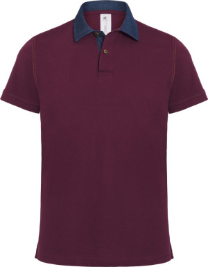 B&C - Polo DNM Forward /Men (Denim/Burgundy)