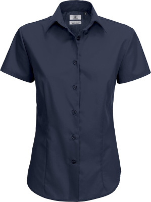 B&C - Poplin Shirt Smart Short Sleeve / Women (Navy)